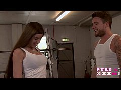 PURE XXX FILMS Gym sex is the best workout