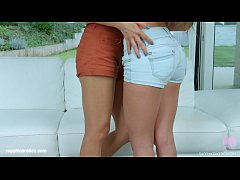 Anita Bellini and Dominica Phoenix in Double stuffed lesbian scene by SapphiX