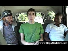 Blacks Thugs Breaking Down Hard Sissy White Boys 08