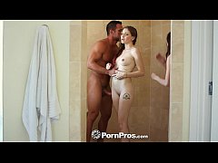 PornPros - Two teens are joined in the shower for a hot threesome