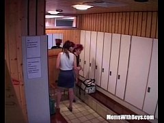 HD Sauna Group Fuck With Two Horny Matures
