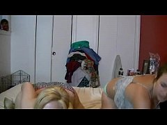 two white girls in panties dart together
