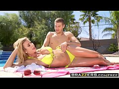 Brazzers - Dirty Masseur - Massaging My Stepmom scene starring Alexis Fawx and Xander Corvus