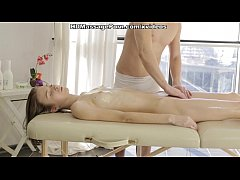 Blonde's adventure in a private massage studio scene 2