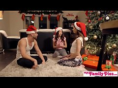 HD Stepbro's Christmas Threesome And Sister Creampie - My Family Pies S5:E6