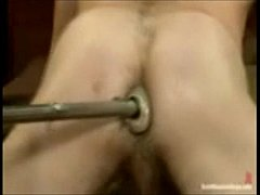 Stud'a ass pounded hard by a nasty machine