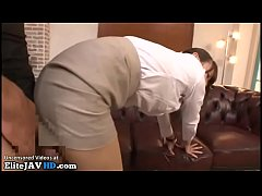 Japanese assistant hot clothed sex