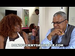 DON'T FUCK MY DAUGHTER - Black Teen Kendall Woods Fucks Her Father's Friend, Jax Slayher