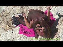 amateur beach interracial