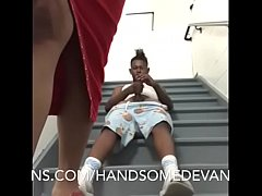 teen raws out  mature  vixen on the staircase of the hotel