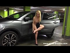 Flashing naked in a public parking