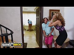 bangbros - stepmom julia ann threesome and latina maid abby lee brazil
