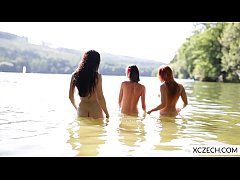 Three beautiful czech girls showing everything