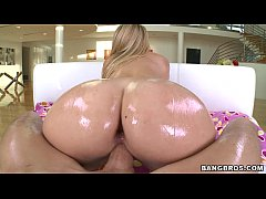perfect oiled blonde ass