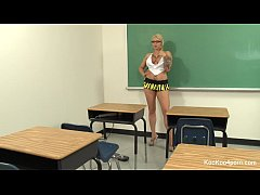 Teacher Lexi gets off with a Hitachi