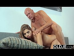 Pretty Young Girl Mouthful Of Cum And Anal Sex With Grandpa Cock