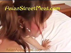Skank Cutie Asian Loves Two Dirty Foreigners