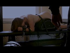 Cute slave whipped while crying