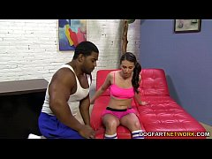 Interracial foot fetish sex with Casey Calvert