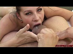 Natural busty PAWG Gianna Michaels rides hard in stockings