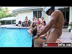 01 Awesome! Cheating whores suck of stripper at cfnm party13