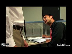 Clip sex Lusty blonde gay gets fucked in the office