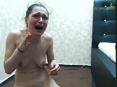 Crying Sister - Anna Punishing her sister on live - SisterTort98 from Pinkocams