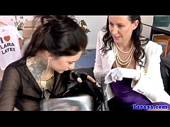 British mature picks up tattooed babe