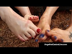 Full Figured Angelina Castro & Virgo Peridot FootFuck A BBC!