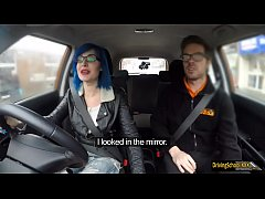Alexxa Vice analed by driving instructor