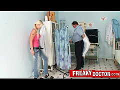 Hot czech blonde Vanessa Hell abused by old daddy doctor