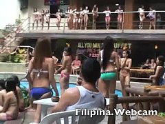 Filipina.webcam girls in bikini contest wet t-shirts Manila pool party