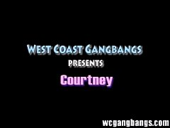 courtney gangbang