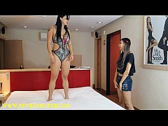 Headscissor Domiantion - Muscle Girl Dominate Small Girl