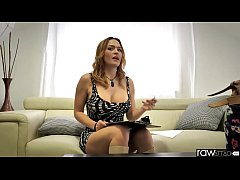RawAttack - Big booty Krissy Lynn is punished by a monster cock, interview, big boobs