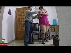 Horny fat woman does not have money to pay