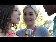 interracial threesome with lily labeau and abella danger