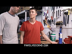 Twink Step Son Fucked By Dad On His Work Bench