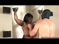 Big titted and ebony BBW gets the spanking treatment