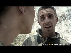 Busty slut (Jessica Jaymes) Rather take a dick than play paintball - Brazzers