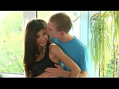 young teen couple slim and tight