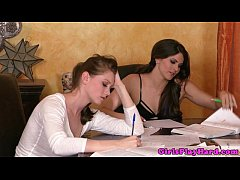 Dreamy young lesbians in sixtynine affair