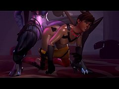 Futa Widow x Tracer: Dominated anally, bondage