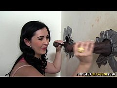 Angell Summers Handles Black Cocks At Gloryhole