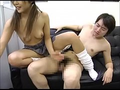 Japanese Depressed Brother Is Encouraged by Sister's Handjob