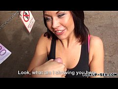 Amateur brunette Euro girl Bianca Pearl banged for money