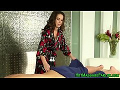 Brunette masseuse eaten