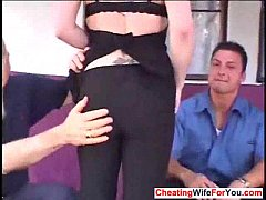 Young wife suck and husband watching