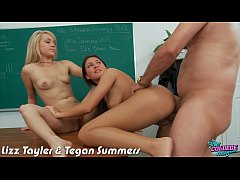 Coeds Lizz Tayler and Teagan Summers fucked