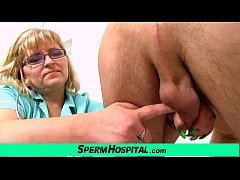 Fat big tits mom Anna is dirty doctor jerking off a boy